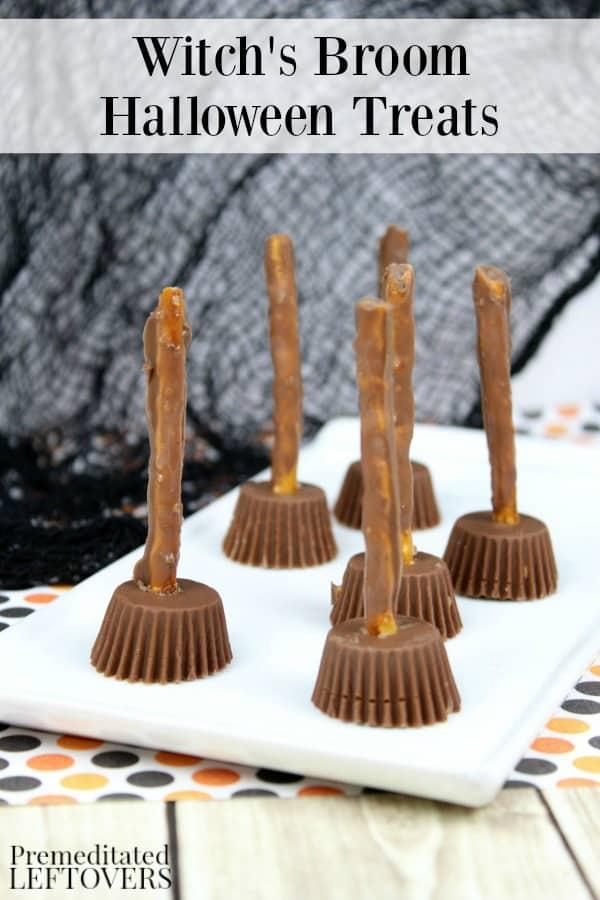 Witch's Broom Halloween Treats