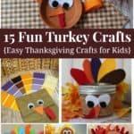 15 fun Turkey Crafts for Kids