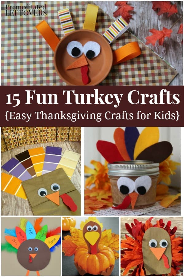 Looking for some fun arts and craft projects for Thanksgiving? These turkey crafts for kids are quick, easy, and fun for children of all levels.