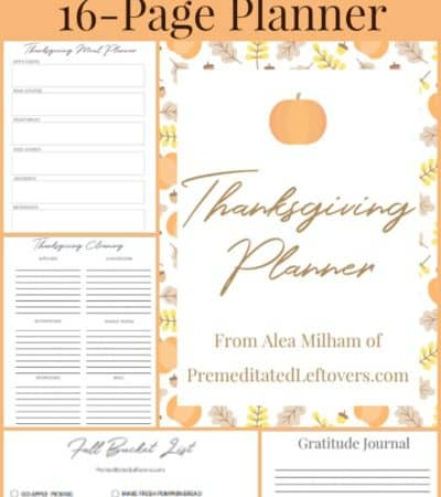 Free Printable Thanksgiving Planner
