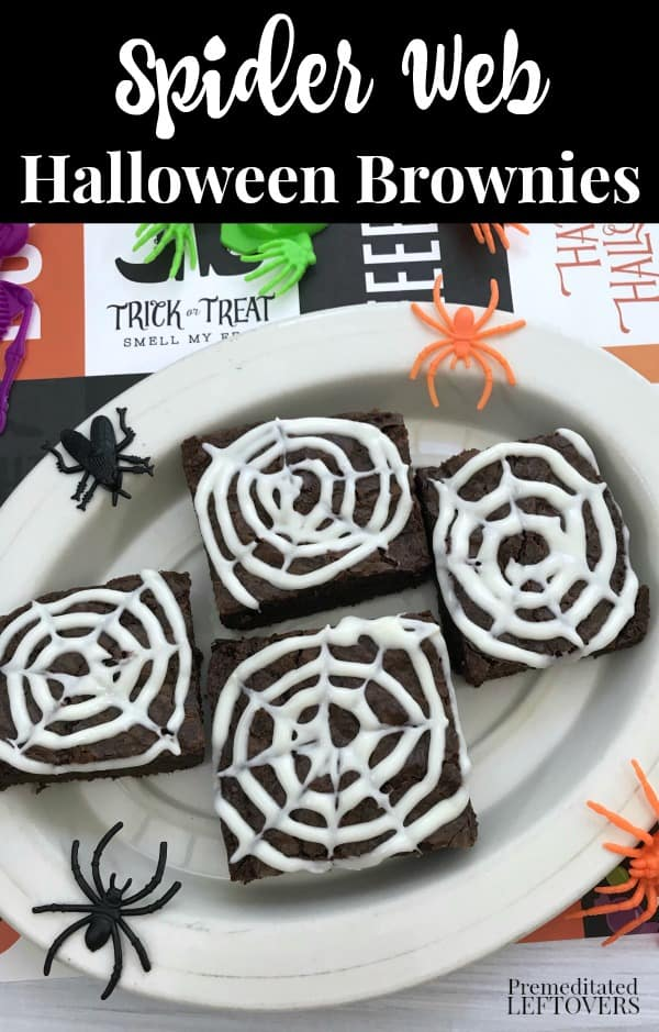 How to make Spider Web Brownies for Halloween