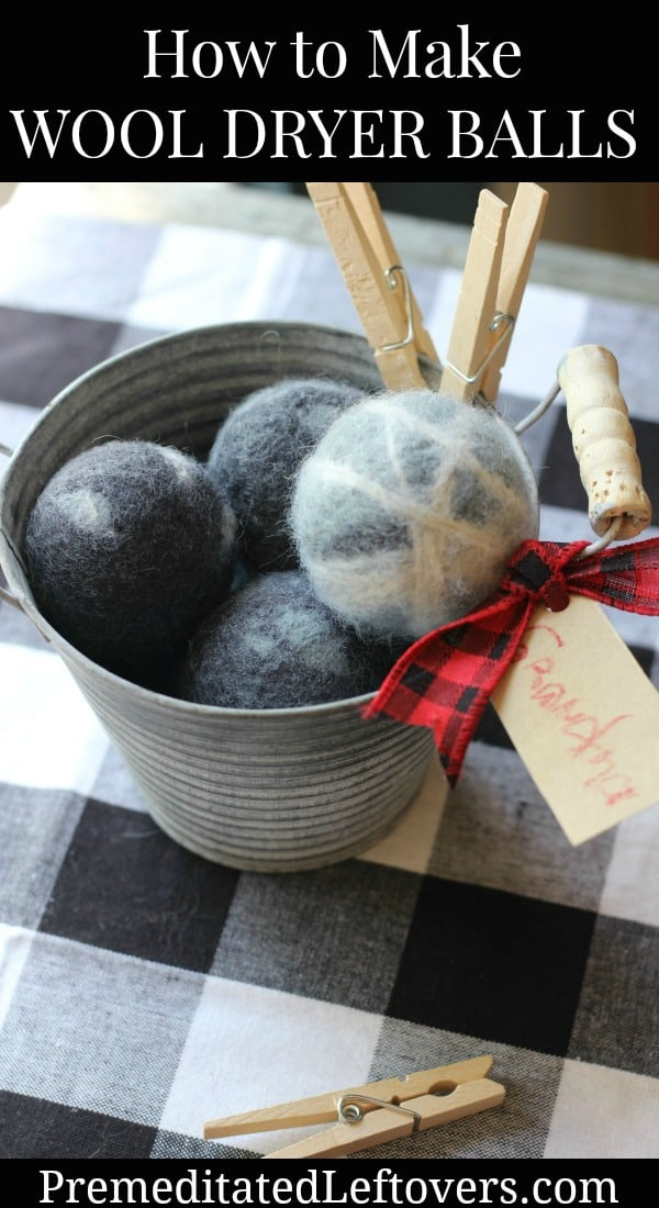 How to make Wool Dryer Balls - tutorial with easy directions