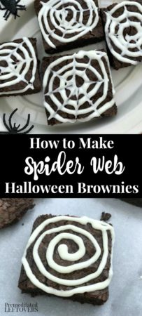 How to make spider web Halloween brownies