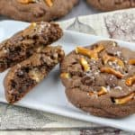 Rolo Stuffed Salted Caramel and Pretzel Cookies