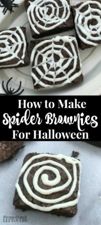 How to make spider brownies for Halloween parties this year.