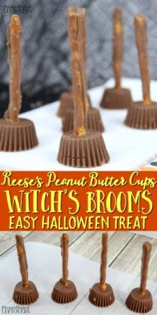 Reese's peanut butter cups witch's brooms recipe