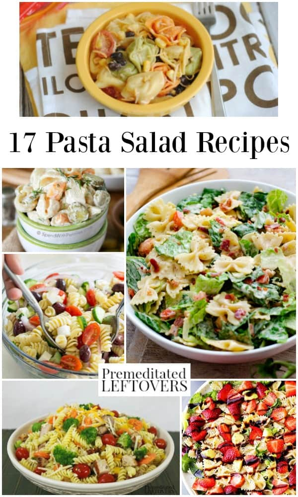 These pasta salad recipes make easy weeknight dinners or side dishes for parties. These quick and easy recipes include a variety of different pasta salads.