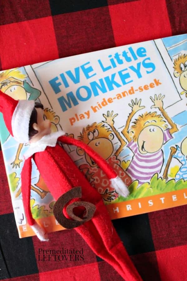 5 Little Monkeys Elf on the Shelf Idea
