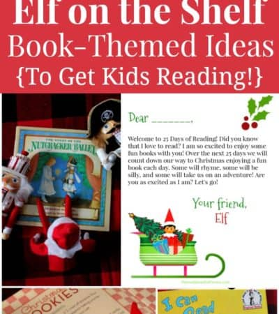 Elf on the Shelf book-themed ideas to get kids reading over winter break.