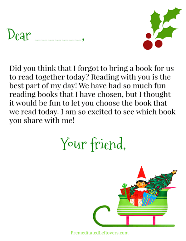 Forgot the Elf on the Shelf Letter - Unsigned