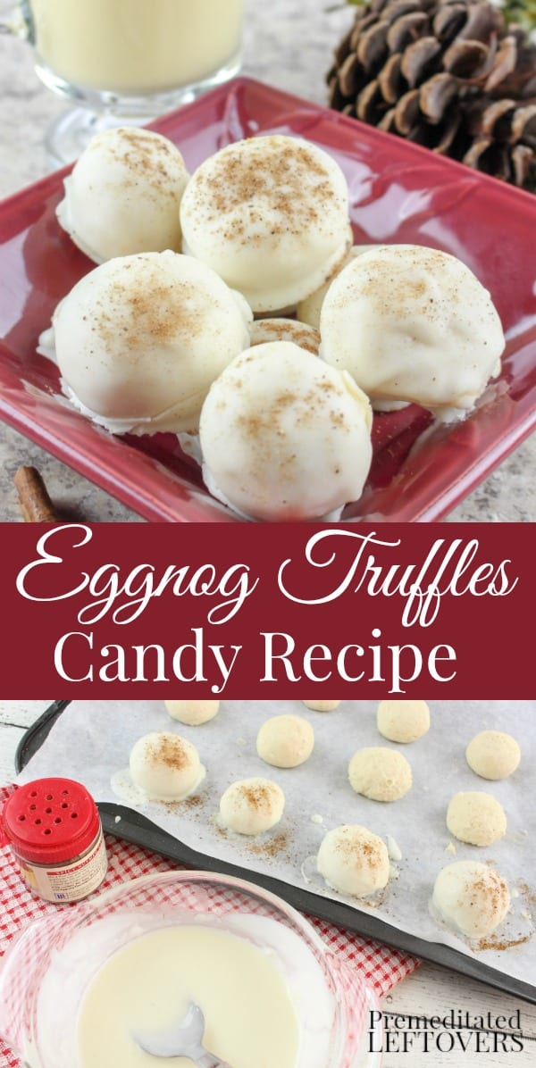 Homemade Eggnog Truffles Recipe - Don't let the holiday season pass by without making up a big batch of this Eggnog Truffles recipe for your cookie tray, late night indulgence, or to gift.