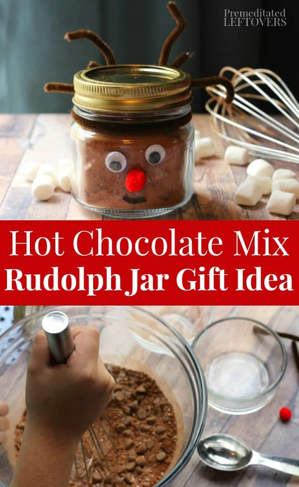 Hot Chocolate Mix Rudolph Jar Gift Idea for Kids