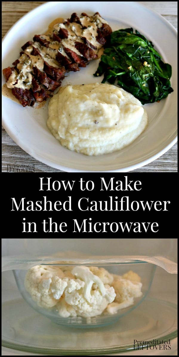 How to Make Mashed Cauliflower in the Microwave. It takes only 7 minutes and uses 3 ingredients to make. This is a low-carb and keto-friendly substitute for traditional mashed potatoes.