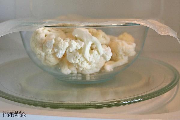 How to make Microwave Mashed Cauliflower