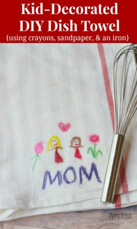 Kid Decorated Diy Dish Towels A Homemade Gift Idea