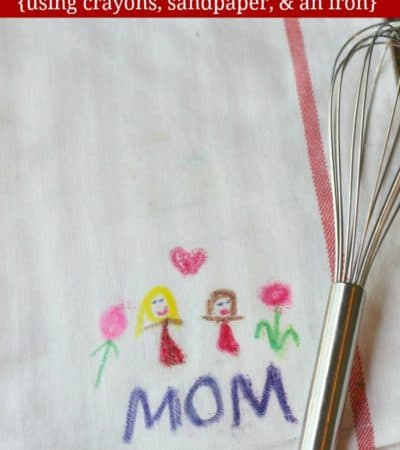 Kid-Decorated DIY Dish Towels - an easy homemade gift idea