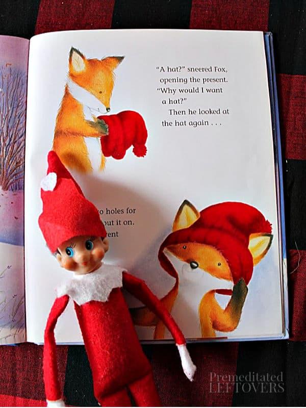 One Snowy Night Elf on the Shelf idea