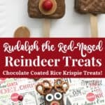 Rudolph the Red-Nosed Reindeer Rice krispie Treats recipe