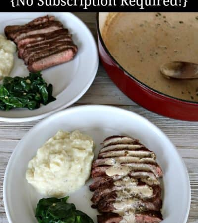 Sirloin Beef Meal Kit with Mashed Cauliflower and Baby Spinach from Raley's