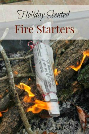 a homemade fire starter on fire