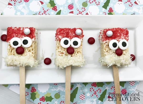 Christmas Santa rice krispie treats
