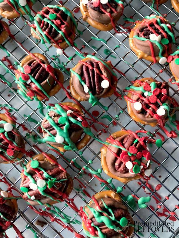 homeade rolo pretzel turtle recipe for christmas