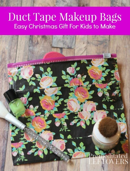 Duct tape is not just for home repairs anymore! There are so many pretty patterns that you can make loads of DIY ideas, like this DIY Duct Tape Makeup Bag.