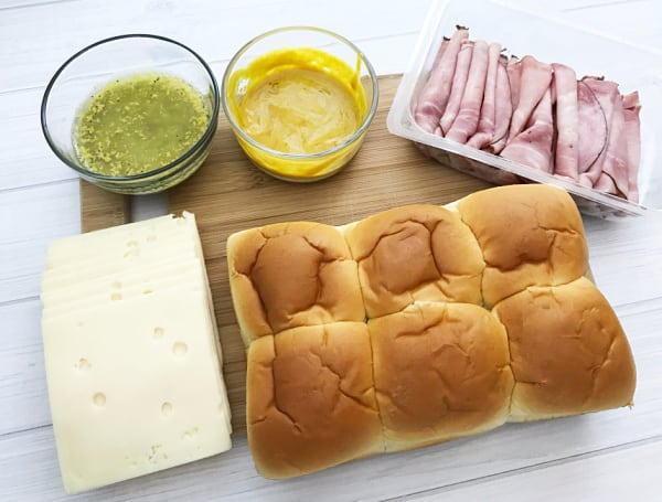 ham and swiss slider ingredients