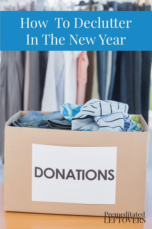 decluttering tips new year organizing