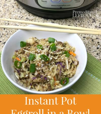 instant pot eggroll in a bowl low carb