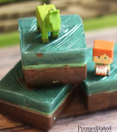 minecraft soap with natural colorant