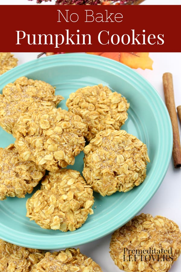 Easy No-bake pumpkin cookies recipe for fall parties.