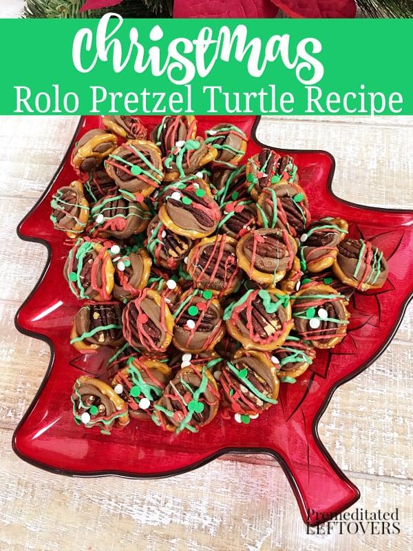 christmas rolo pretzel turtle recipe