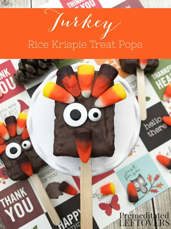These adorable Turkey Rice Krispie Treats are a fun dessert to make with the kids and would add some sweet whimsy to your Thanksgiving table!