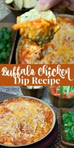 Easy Buffalo Chicken Dip Recipe - Directions for baking it or cooking it in a Crock Pot