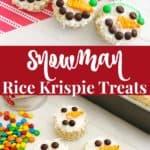 Easy Snowman Rice Krispie Treats Recipe and Tutorial