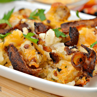 Loaded Bacon Ranch Tater Tot Casserole