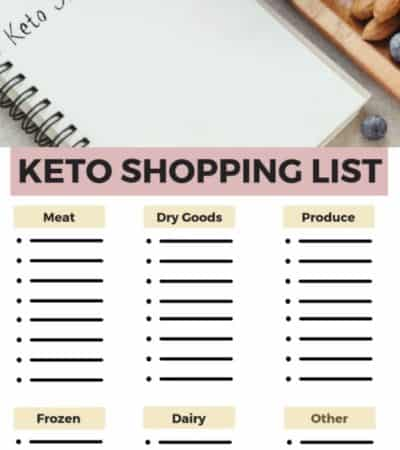 Printable Keto Grocery Shopping List