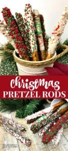 Quick and Easy Christmas Pretzel Rods