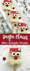 Santa Claus Rice Krispie Treats recipe and directions