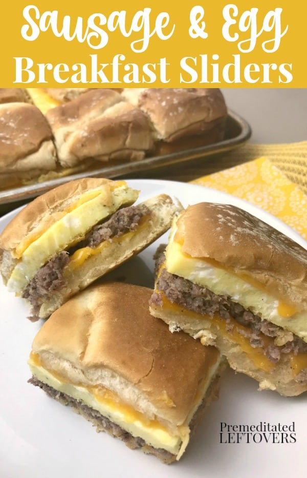 Sausage and egg breakfast sliders recipe