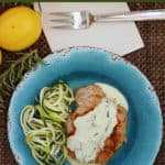 baked pork chops with Rosemary Lemon Cream Sauce recipe