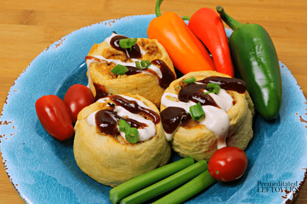 bbq chicken roll up appetizer recipe