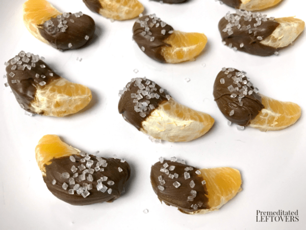 chocolate dipped coated clementine