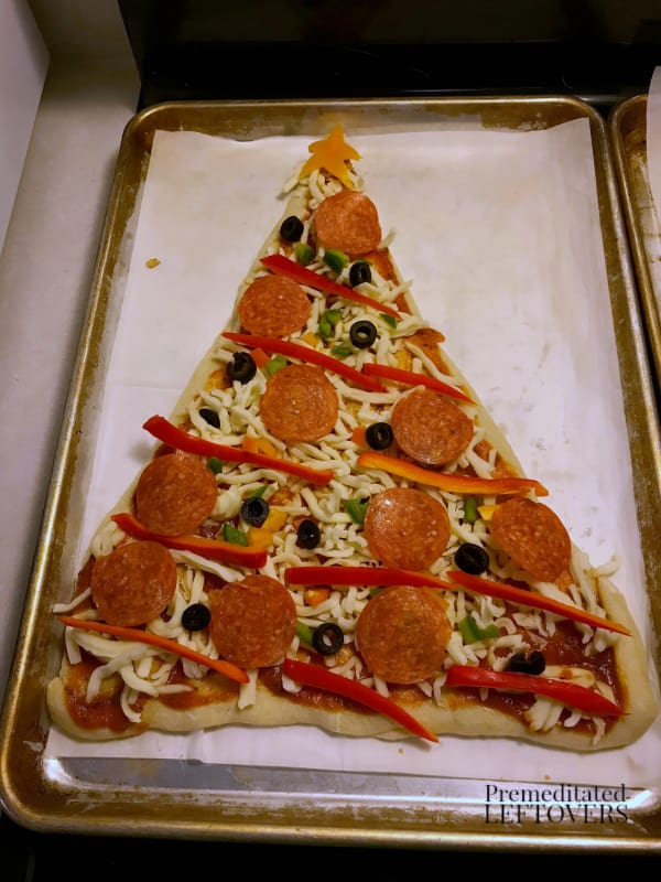 christmas tree pizza recipe toppings