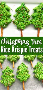This Christmas tree rice Krispie treats recipe is fun, festive, and easy to make!