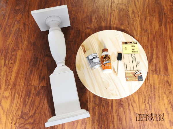 diy side table supplies