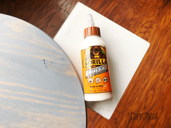 diy side table glue