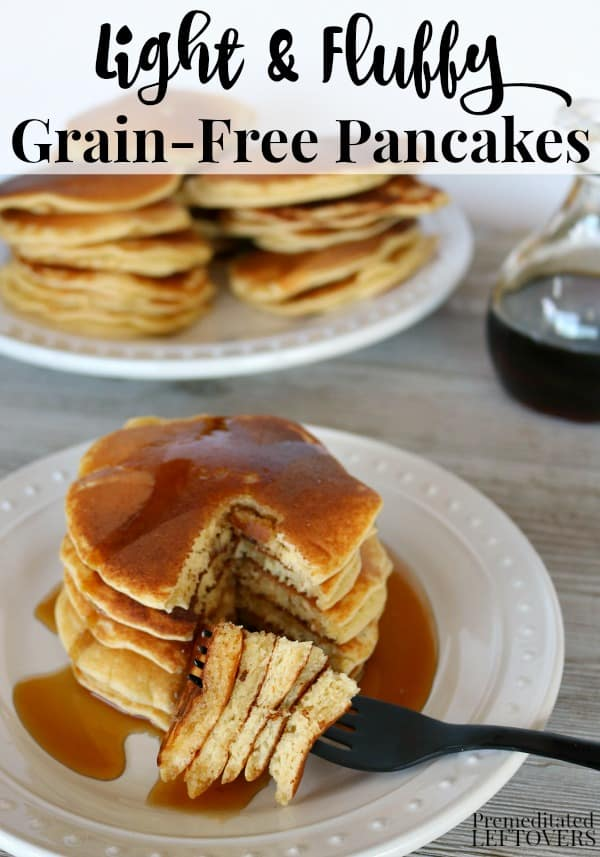 gluten-free, grain-free, and dairy-free pancakes