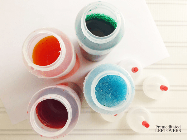 how to make snow paint in bottles